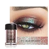 Barbarer Lidschatten Palette, Glitter Perlglanz Lidschatten Pulver Eye Shadow Makeup Pearl Schimmer Metallic Kosmetik Eyeshadow Palette -18 Farben (11)