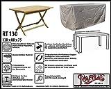 Raffles Covers RT130 Schutzhülle für rechteckige Gartentisch, 130 cm. Schutzhülle für rechteckigen Gartentisch, Abdeckhaube für Gartentisch, Gartenmöbel Abdeckung