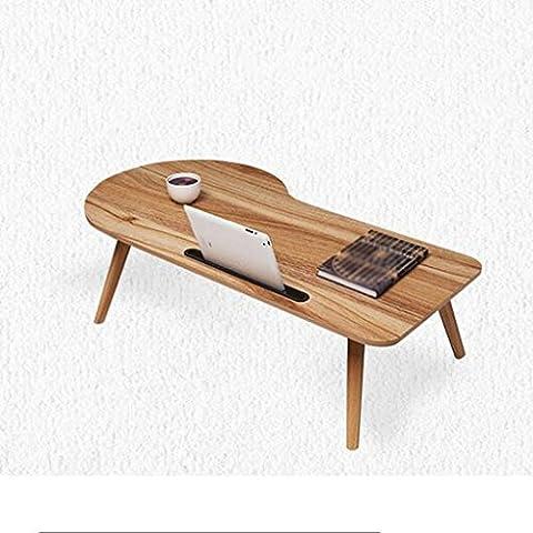 GAOLILI Laptop Tisch Schreibtisch Schreibtisch Schreibtisch Klapptisch Moderne Einfache Bett Lazy Little Schreibtisch Massivholz Bett Computer Schreibtisch Kann gefaltet werden, um die Installation zu vermeiden ( Farbe : A , größe : 90*48cm )