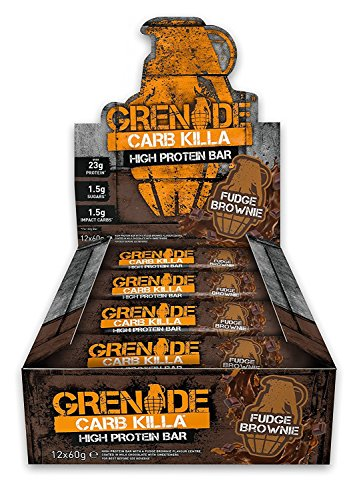 Grenade Carb Killa High Protein and Low Carb Bar, 12 x 60 g - Fudge Brownie Test