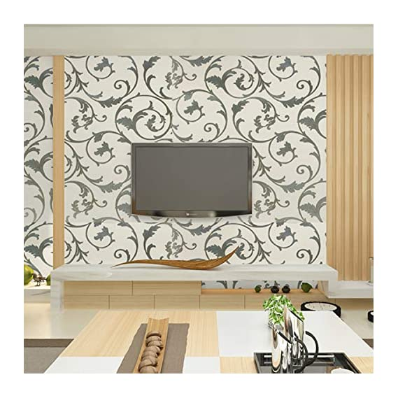 Luke and Lilly Self Adhesive Wallpaper/Wall Sticker with Water Proof - Beautiful Floral Design (45cm X 500cm)