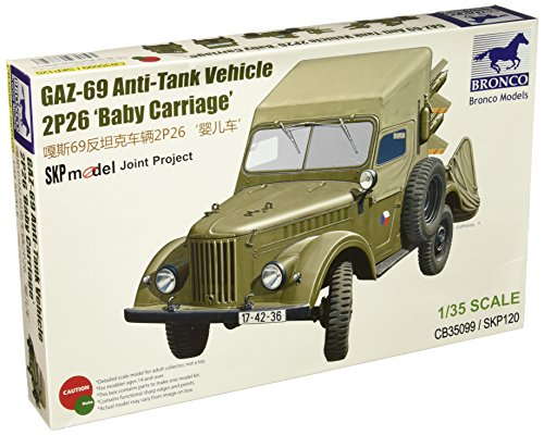 Unbekannt Bronco Models cb35099-Maqueta de Tanque de 69Anti de GAZ Vehicle 2p26Baby Carri
