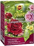 COMPO Rosen Langzeit-Dünger, hochwertiger Spezial-Langzeitdünger, für alle Rosenarten und andereBlütensträucher, sowie Schling- und Kletterpflanzen, 850 g