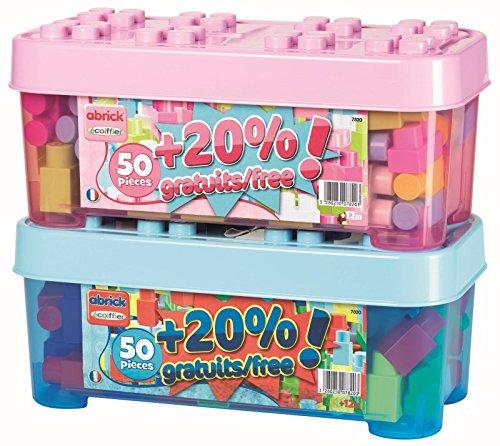 Abrick Barril con 50 Piezas de Construcción + 20% DE Regalo - Surtidos Rosa y Azul (Smoby 7820)