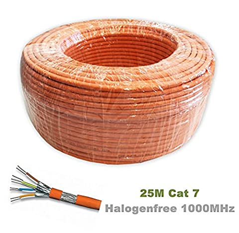 Câble patch, Cat, 7, S/FTP, PiMF, sans halogène 600MHz pour la Diffusion en continu/IPTV/lecteurs multimédia/récepteurs satellite/serveurs de réseau/de bureau PC/Super rapide câble Ethernet avec connecteurs à broches Or