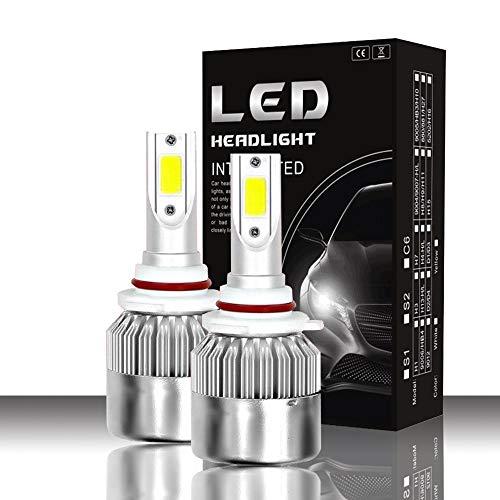 Luces LED 3800Lm LED bombillas de los faros Hi/Lo Beam 9005/9006 36w 6000K impermeable llevó la linterna con Super brillante COB Chips 2 unids Luz de conducción (Color : 9005/HB3)