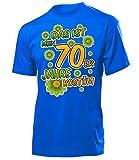 Das ist Mein 70er Jahre Kostüm Herren T-Shirt Mottoparty Schlagerparty 4523 Karneval Fasching Faschingskostüm Karnevalskostüm Erwachsene Blau L