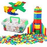 ITODA Bauklötze Kinderspiel Steckbausteine für Kinder ab 3Jahre Alter Steckspiel Spielzeug Kunststoff Bausteine 280 Stück Konstruktionsspielzeug mit Aufbewahrungsbox Kinderspielzeug für Junge Mädchen