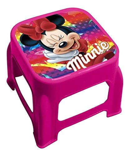 Star Licensing 50279 Disney Minnie Mouse Tabouret, Multicolore, 24.5 x 24.5 x 20 cm