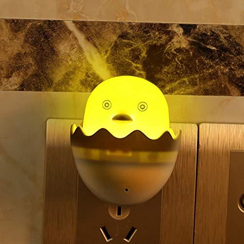 Gelbe Ente US Stecker Lichtsteuerung Sensor Geschenk für Kinder Nette LED Nachtlicht Steckdose Lampen Schlafzimmer Lampe AC 110-220 V