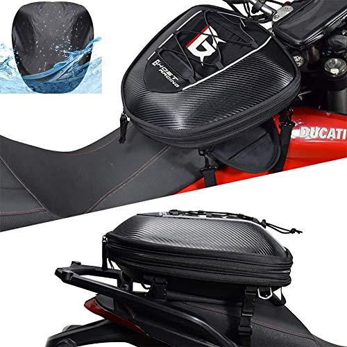 LALEO Multifunzionale Impermeabile Panno Oxford Borsa da Moto, Sport Borsa da Sella Borsa per Sedile Posteriore Nero