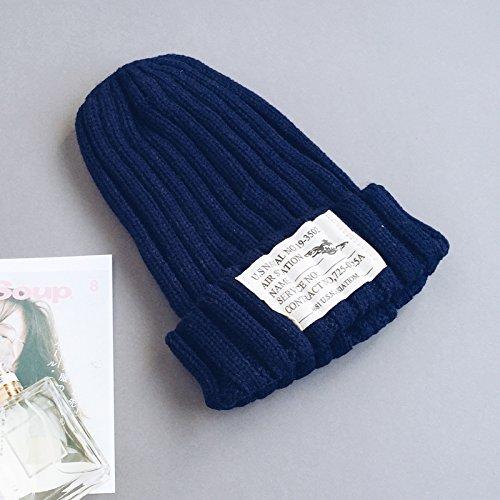 BTBTAV*Der koreanischen Frau schön warm winter stricken Ohr hat und im Herbst und Winter Stricken hat Winter , Navy (Disney Dressing Kleidung Up)