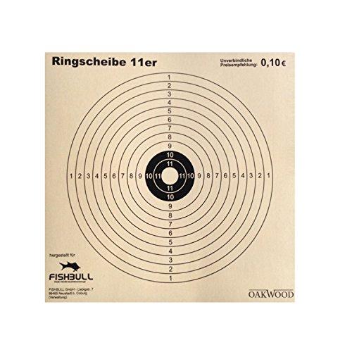 Zielscheiben 14 x 14cm 100-200 Stück Zielscheibe Schießscheibe Luftgewehrscheibe, Ringscheibe:100 Stück