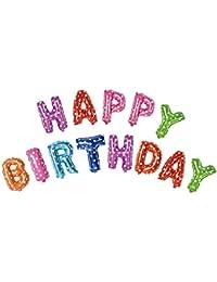 Acryls UK Ltd Alfabeto de colores 16inch Cartas papel de los globos del partido del feliz cumpleaños Decoración…