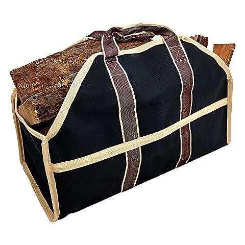 Sac à bûches Grande contenance Premium Journal de bois de chauffage de transport Tote Sac de bois de chauffage et bois de bois support à bûches