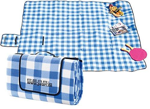 PEARL Picknickdecke: Fleece-Picknick-Decke mit wasserabweisender Unterseite, 200 x 175 cm (Picknickdecke isoliert)