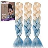 Jumbo Braids-Premium Qualität 100% Kanekalon Braiding Haarverlängerung Full Bundles 100g / pc Synthetik Haar Ombre 24Inch 3Pcs / lot Hitzebeständig, lange Zeit mit-37 Farben 2Tone & 3Tone, Garantie 1 Woche ändern oder Rückerstattung(Farbe 71)