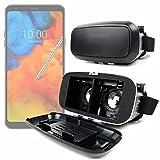DURAGADGET Gafas de Realidad Virtual VR Ajustables en Color Negro para Smarphones ASUS ROG Phone,...