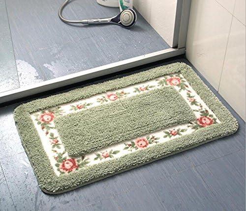 GRENSS Piano Carpet Pastorale Tappeto Soggiorno Camera da Letto Carpet Piano rug Tappetino Anti-Scivolo Tappeto Bagno Cucina Mat Mat Home Tessile,verde,70x140cm c04256