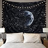 Dremisland Hippy Tapestry Wall Hanging Psychedelic Tapestries Constellation Galaxy Pattern Space Wall Tapestry Home Decorations For Living Room Bedroom(130cm*150cm)