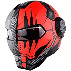 JL-Q Súper Personalidad, Casco De Moto, Iron Man, Cara Completa, Casco, Estilo Retro, Harley Transformers, Cara, Casco,B,XL