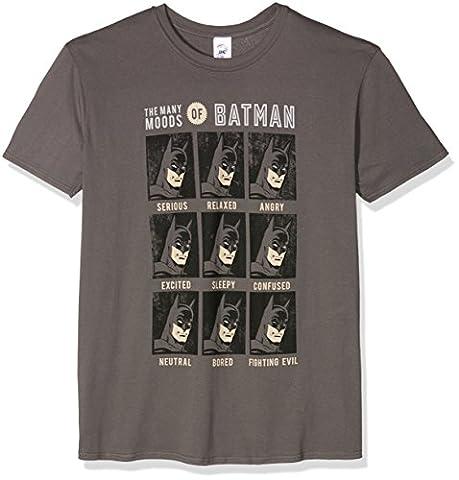 CID Herren T-Shirt Dc Originals-Moods of Batman Grau, S