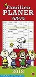 Snoopy Familienplaner 2018 - Heye-Kalender - Peanuts - Familienkalender - Mit 5 Spalten, Schulferien und Stundenplänen - 21 cm x 42 cm