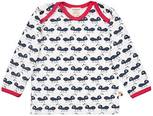loud + proud Unisex Baby Langarm mit Druck, aus Bio Baumwolle, GOTS Zertifiziert T-Shirt, Blau (Navy Ny), (Herstellergröße: 74/80) -