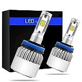 phares LED S2Série H8/H9/H11ampoules de phare LED avec 2pcs de LED Kits de conversion 72W 8000lm COB...