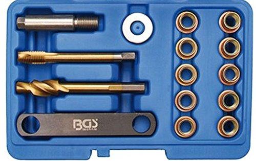 BGS Reparaturset für Bremsgewinde, M12 x 1,5, 14-teilig, 1 Stück, 8408