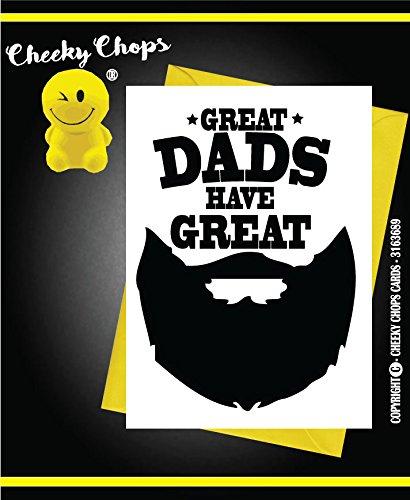 Funny/Rude/NEUHEIT Cheeky die Koteletts Grußkarten–Geburtstag/Vatertag/Dad–Bart C681 (Bart Koteletts)