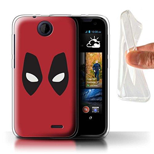 Coque Gel TPU de STUFF4 / Coque pour HTC Desire 310 / Deadpool Masque Inspiré Design / Super Héros Bande Dessinée Collection