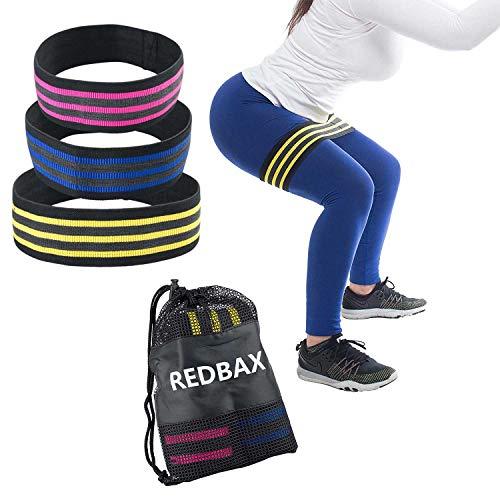 REDBAX Fitnessbänder Set 3 Stärken ideal für Muskelaubau Gymnastik Yoga Pilates