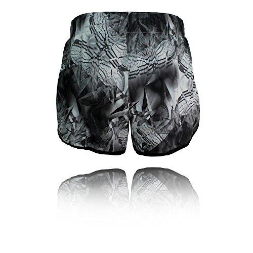 adidas Damen M10 Q3 Short, Schwarz Black
