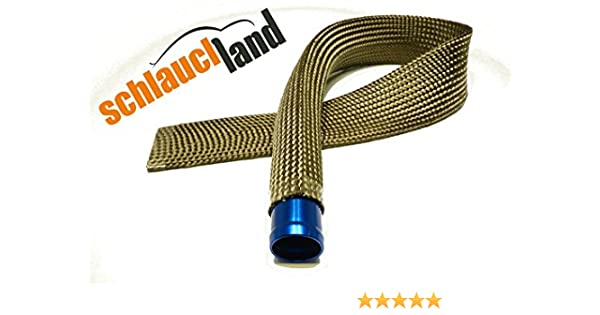 1m Kevlar Titan Hitzeschutzschlauch ID 15mm *** Heat sleeve Thermoschutz Isolierschlauch Kabelschutz
