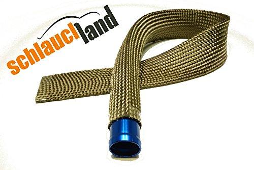 1m Kevlar Titan Hitzeschutzschlauch ID 20mm *** Heat sleeve Thermoschutz Isolierschlauch Kabelschutz - 2 Kabel, 1 Schlauch-ofen