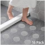 Ecooe 16x Rund Anti-Rutsch Sticker für Treppen, Duschen & Badewannen Selbstklebender Rutschschutz Aufkleber 11 cm (ø) Transparent mit Positionier-Schablone
