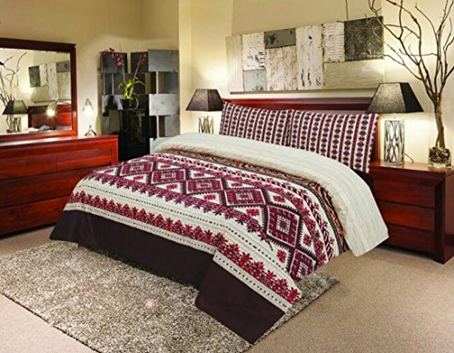Étnico indio impresión edredón con 2fundas de almohada, funda de edredón juego...
