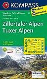 Zillertaler Alpen - Tuxer Alpen: Wanderkarte mit Aktiv Guide, Radwegen und Skitouren. GPS-genau. 1:50000: Wandelkaart 1:50 000 (KOMPASS-Wanderkarten, Band 37)