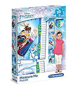 Clementoni 20325Frozen-Máxima de Measure Me Puzzle, 30Piezas , Modelos/colores Surtidos, 1 Unidad