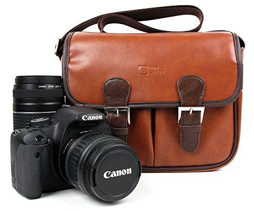 DURAGADGET Borsa Unisex per Canon EOS 1300D / Rebel T6 | 700D | 750D | 100D | 80D | 6D | M3 | 400D | 1200D - con Tracolla Regolabile - Design Vintage