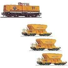 Roco 43635. Locomotora Renfe Diesel V211-181-3 + 3 vagones 46986. Escala HO