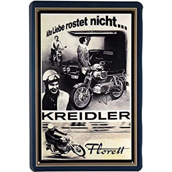 Amazon.de: Blechschild Motorrad Kreidler 20 x 30cm Reklame