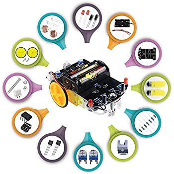 Electronics components Kit DIY Soldering Robot Car with website video  tutorial [line tracking Function]