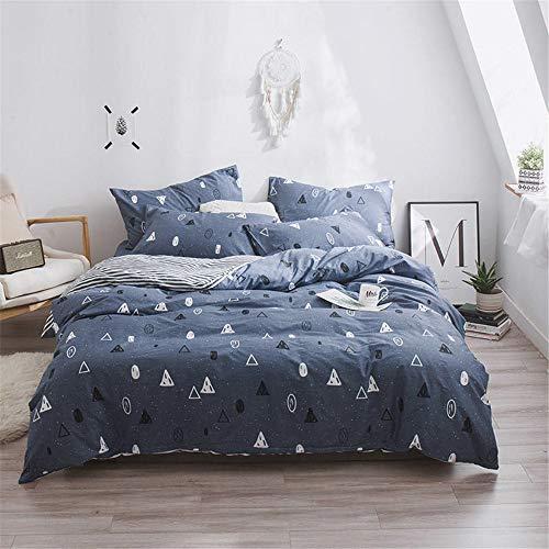 WENXIAOXU Weiche blätter Bett schoner Bezug mit Nässeschutz, Atmungsaktiv, Allergie und Anti Milben,Baumwolle vierteiliges Set C-20 150 * 200 * 30cm