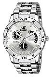 Espoir Analog Silver Dial Men's Watch-ES109