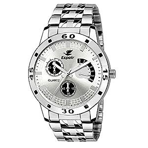 Espoir Analog White Dial Men's Watch – ES 109