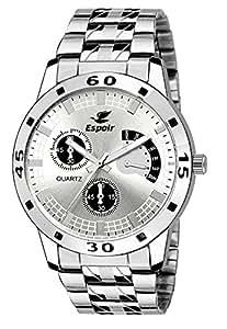 Espoir Analog White Dial Men's Watch - ES109