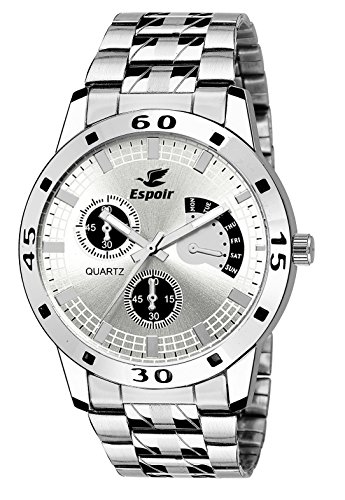Espoir Analog White Dial Men's Watch - ES 109