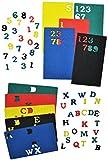 Unbekannt XL Set: 280 Moosgummi Buchstaben + Zahlen - Alphabet Konfetti Streumotive Streukonfetti - für Schulanfang Deko Schultüte Schulbeginn Schule Streuteile Moosgum..